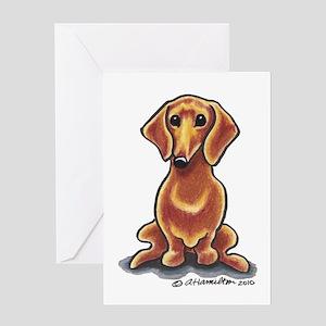 Smooth Red Dachshund Greeting Card
