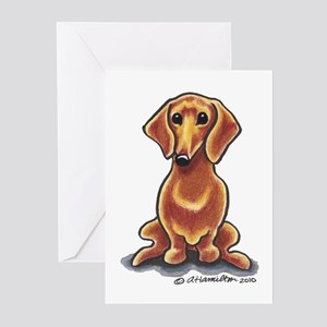 Smooth Red Dachshund Greeting Cards (Pk of 10)