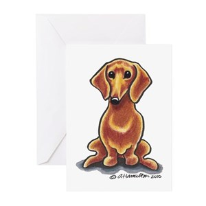 Dachshund greeting cards cafepress m4hsunfo