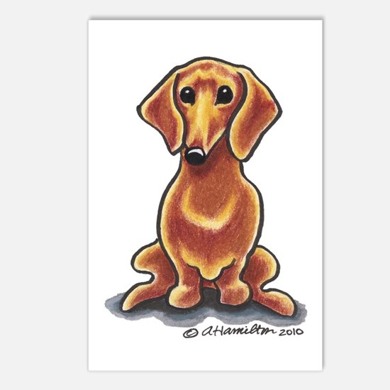 Smooth Red Dachshund Postcards (Package of 8)