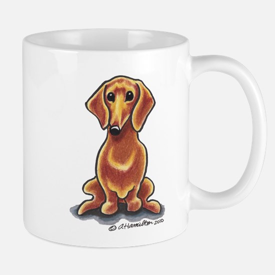 Smooth Red Dachshund Mug