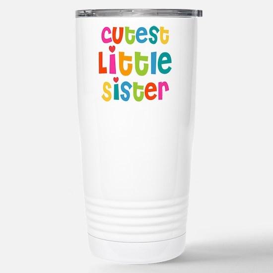Cutest Little Sister Stainless Steel Travel Mug