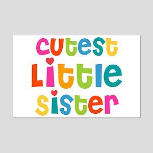Cutest Little Sister Mini Poster Print