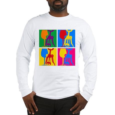 Pop Art Wine Long Sleeve T-Shirt