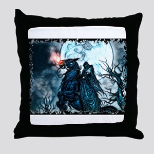 Grim Rider Throw Pillow