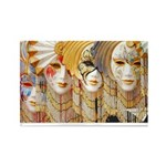 Venetian Masks Rectangle Magnet (100 pack)