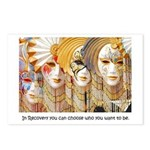 Venetian Masks Postcards (Package of 8)