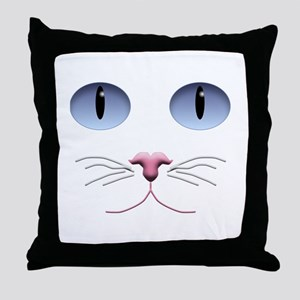 Cat Face Throw Pillow