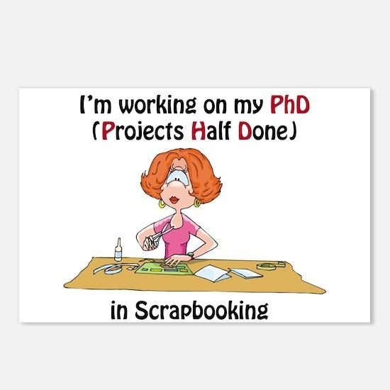 Scrapbooking PhD Postcards (Package of 8)