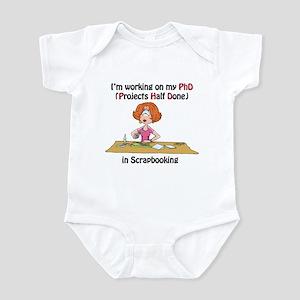 Scrapbooking PhD Infant Bodysuit