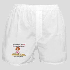 Scrapbooking PhD Boxer Shorts