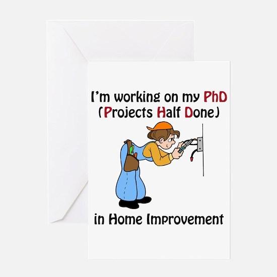 Home Improvement PhD Greeting Card