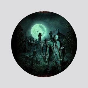 """Zombies!! 3.5"""" Button"""