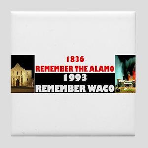 Remember The Alamo Tile Coaster