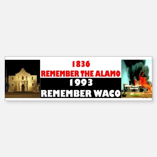 Remember The Alamo Sticker (Bumper)