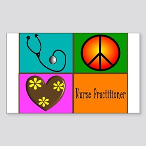 nurse practitioner Sticker (Rectangle)
