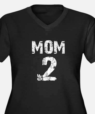Mom of 2 Plus Size T-Shirt
