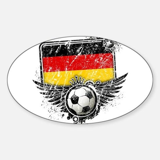 Soccer Fan Germany Sticker (Oval)