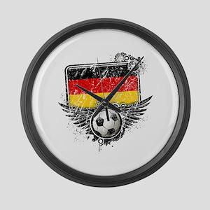 Soccer Fan Germany Large Wall Clock