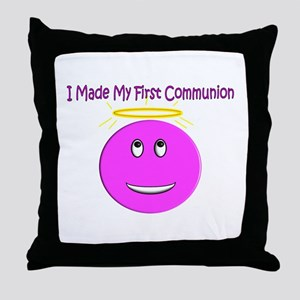 More First Communion Throw Pillow