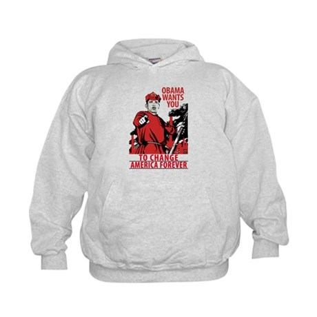 The Obama Red Army of America Kids Hoodie
