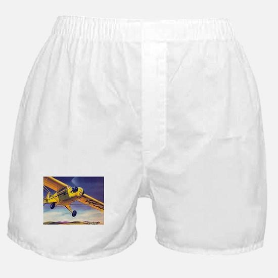 Piper Cub In Flight Boxer Shorts