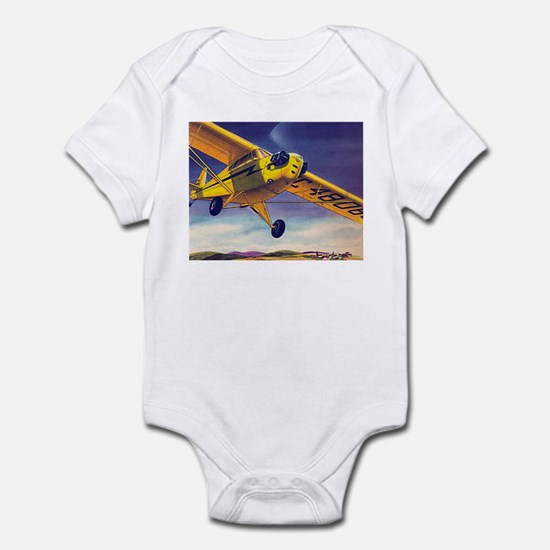 Piper Cub In Flight Infant Creeper