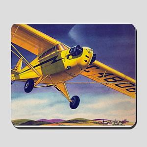 Piper Cub In Flight Mousepad