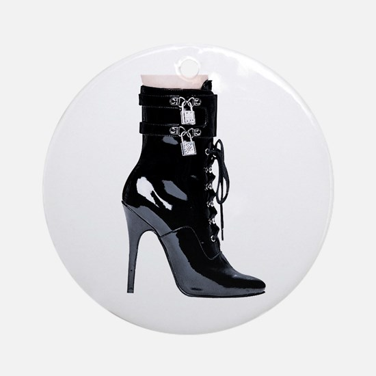 Sexy Boot Ornament (Round)