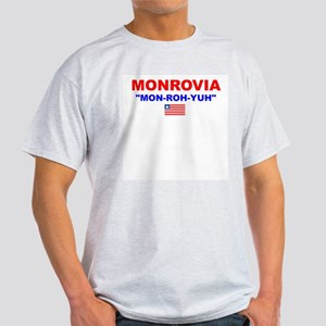 MON-ROH-YUH Ash Grey T-Shirt