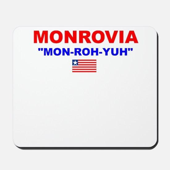 MON-ROH-YUH Mousepad