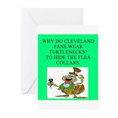 anti cleveland sports joke Greeting Cards (Pk of 2