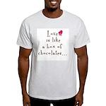 2-sided Love is Like Ash Grey T-Shirt