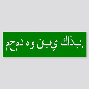 Mohammed is a false prophet. Sticker (Bumper)