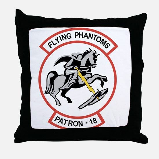 VP-18 Flying Phantoms Throw Pillow