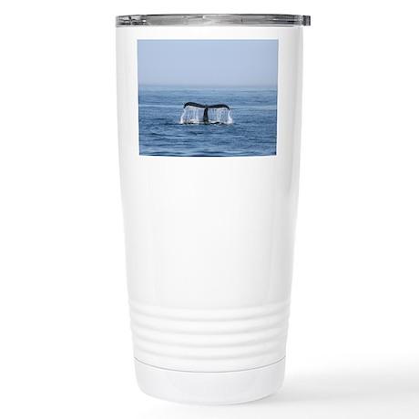 Stainless Steel Travel Mug-Whale (Humpback)