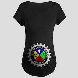 mad_scientist_union_logo_dark Maternity T-Shirt