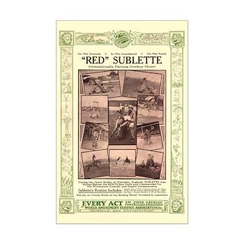 Red Sublette, Cowboy Clown - 11x17 poster