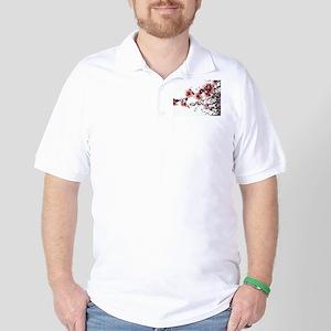 Cherry Blossoms Golf Shirt