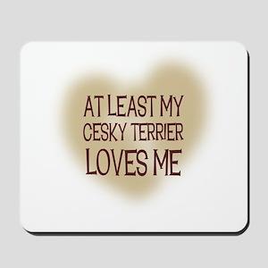 At Least My Cesky Terrier Lov Mousepad