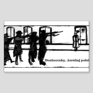DOSTOEVSKY TURNING POINTS Sticker (Rectangle)