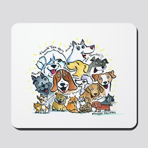 Thank You Dogs & Cats Mousepad