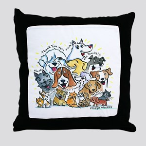 Thank You Dogs & Cats Throw Pillow