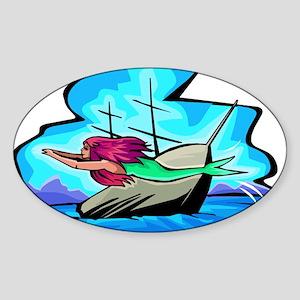 The Little Mermaid Oval Sticker