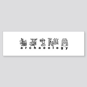 Maya Glyphs Bumper Sticker