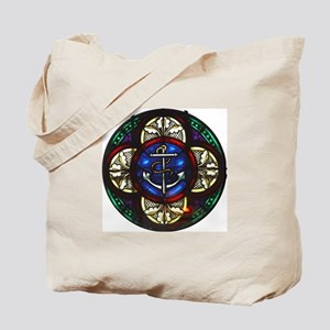 Stained Glass Fouled Anchor Tote Bag