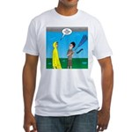 Umbrella in a Thunderstorm Fitted T-Shirt