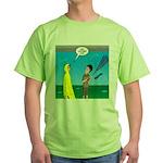 Umbrella in a Thunderstorm Green T-Shirt