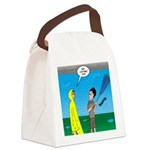 Umbrella in a Thunderstorm Canvas Lunch Bag