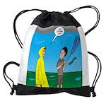 Umbrella in a Thunderstorm Drawstring Bag